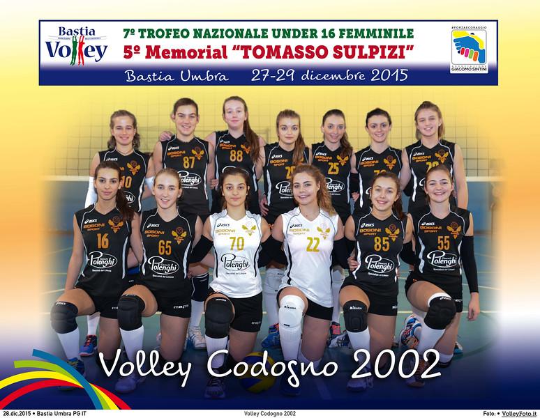 <h5>Volley Codogno 2002 </h5>7º Trofeo Nazionale Under 16 Femminile / 5º Memorial Tomasso Sulpizi.  Bastia Umbra PG, 27-29 Dicembre 2015.