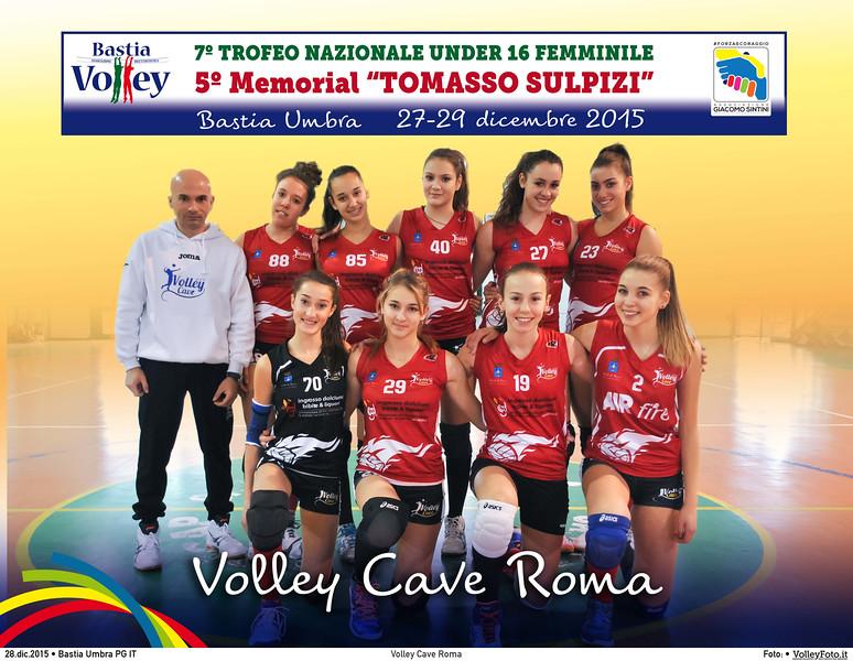 <h5>Volley Cave Roma </h5>7º Trofeo Nazionale Under 16 Femminile / 5º Memorial Tomasso Sulpizi.  Bastia Umbra PG, 27-29 Dicembre 2015.