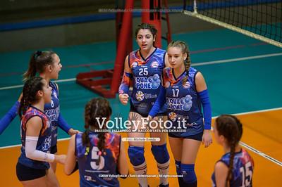 """Under14 «Roma Volley Group - Cortona Volley AR» - 8º Memorial """"Tomasso Sulpizi"""" • 10º Trofeo Nazionale Volley U14 & U16 Femminile IT, 28 dicembre 2018 - Foto: Michele Benda per VolleyFoto.it [Riferimento file: 2018-12-28/NZ6_4810]"""