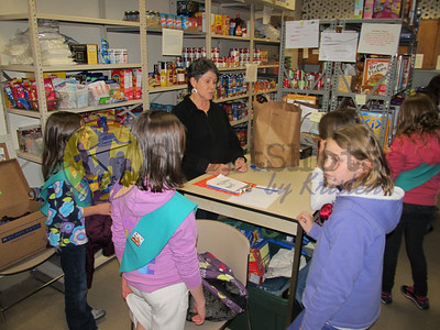 Mrs. Ludwig shared her time with us at the food pantry.