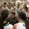 Oakmont Regional High School girls basketball played Leominster High School on Wednesday night, Feb. 5, 2020 in Ashburnham. ORHS's Head Coach Jeff O'Neill crafts a play with 1.3 seconds left on the clock. SENTINEL & ENTERPRISE/JOHN LOVE