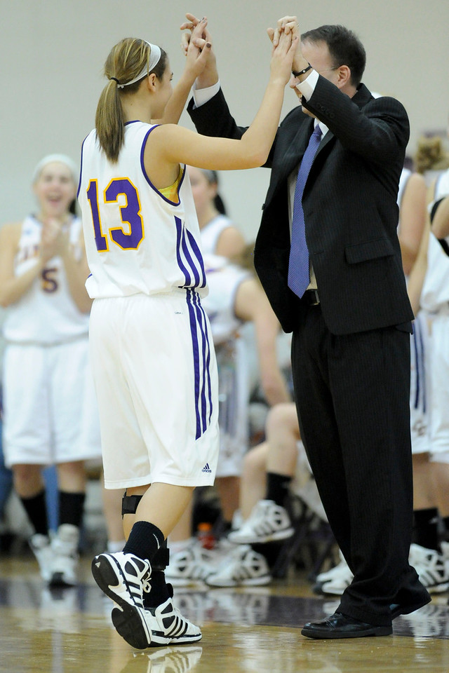 Campbell County's #13 SR Kennedy Berkley with head coach Michael Murray. (The Journal News/Scott Davis)