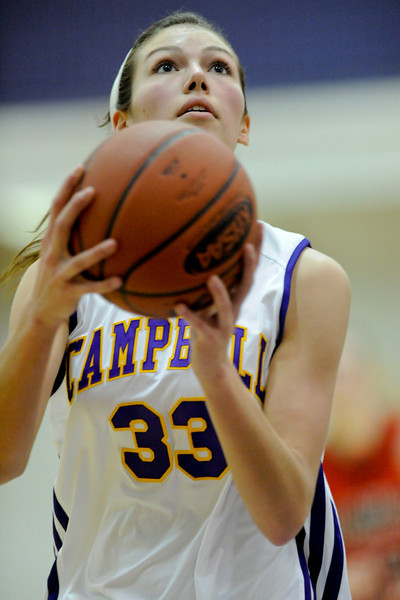 Campbell County's #33 Kaitlin Siegmundt.  Campbell Co. defeated George Rogers Clark 49-45.  (The Journal News/Scott Davis)