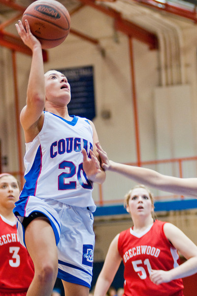 Conner's #20 SO (GD) Brook Maines goes strong to the basket.  Conner defeated Beechwood 64-60.  (The Journal News/Scott Davis)