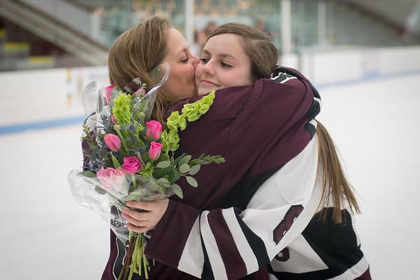 Girls Hockey Senior Night 2016