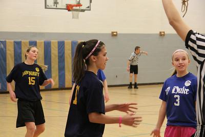 Girls HCYP 7th Grade Navy Basketball -2014 Coach Karen