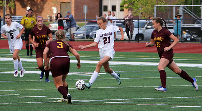 Chelsea Mitchell controls for Canton.  Photo by John Fitts