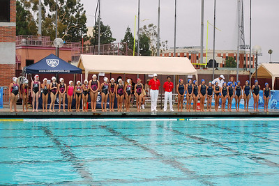 S & R Sport Junior Olympics 2010 - Platinum Division 12U Girls Third Place Game - Saddleback El Toro vs Santa Barbara Water Polo Club 8/8/10. Final score 6 to 5. SETWPC vs SBWPC. Photos by Allen Lorentzen.