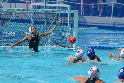 SwimOutlet.com Junior Olympics 2011 - Platinum Division 12U Girls Fifth Place Game - 680 Drivers Red vs Saddleback El Toro Water Polo Club 8/7/11. Final score 13 to 2. 5th Place 680 vs SET. Photos by Allen Lorentzen.