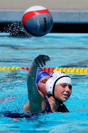 S & R Sport Junior Olympics 2009 - Platinum Division 12U Girls - Los Alamitos Water Polo Club vs United 7/30/09. Final score 16 to 3. Los Al vs UWPC. Photos by Chris Preston.