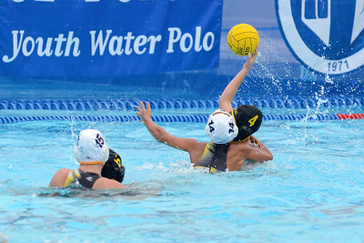 SwimOutlet.com Junior Olympics 2011 - Platinum Division 14U Girls Semi-Final Game - Socal Water Polo Club Black vs San Diego Shores 8/7/11. Final score 7+3 to 7+1 Overtime Shootout. SWPC vs SDSWPC. Photos by Allen Lorentzen.