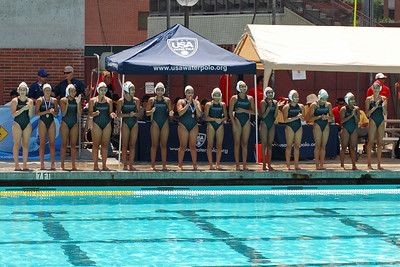 S & R Sport Junior Olympics 2010 - Platinum Division 16U Girls Third Place Game - Commerce Water Polo Club vs Saddleback El Toro 8/8/10. Final score 7 to 6. CWPC vs SETWPC. Photos by Allen Lorentzen.