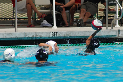 S & R Sport Junior Olympics 2009 - Platinum Division 18U Girls - Commerce Water Polo Club vs Santa Barbara 8/2/09. Final score 8 to 5. CWPC vs SBWPC. Photos by Allen Lorentzen.