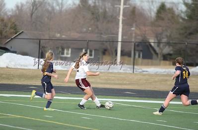 HCHS jv giris soccer vs Hudsonville