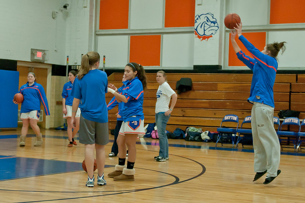 2010-12-17 Dayton Girls Varsity Basketball vs Women's Alumni