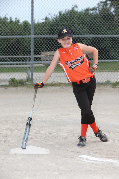 Girls Softball. Team 1. Silly Photos June 2012