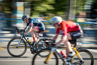 Margot Clyne of UBC Cycling Team saw a breakaway opportunity, and took it.
