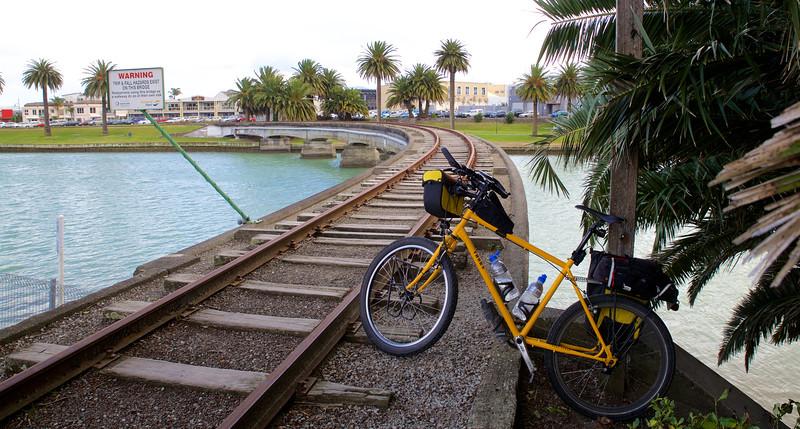 Railway Bridge over Turanganui River  Gisborne Harbour