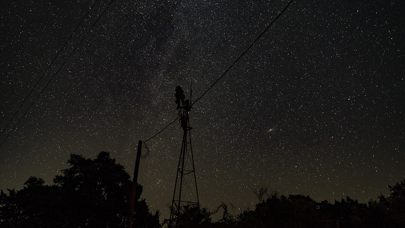 Tail end of the Milky Way at the northern horizon
