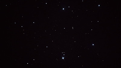 Pleiades - open cluster taken using the Dobsonian telescope. Minimal post processing.