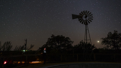 Iconic windmill with stars