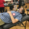 Thomas Quattrociocchi of Billerica said he was donating blood on Father's day because it is the right thing to do. Photo by Mary Leach