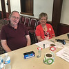 Bill and Marion McPhee of Burlington greeted blood donors at the drive sponsored by the masons of the Thomas Talbot Lodge. Photo by Mary Leach
