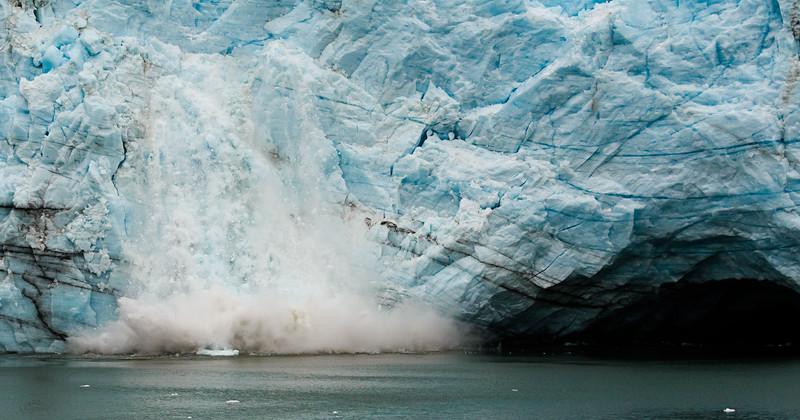 Margerie Glacier Calving--Glacier Bay, Alaska July 2016