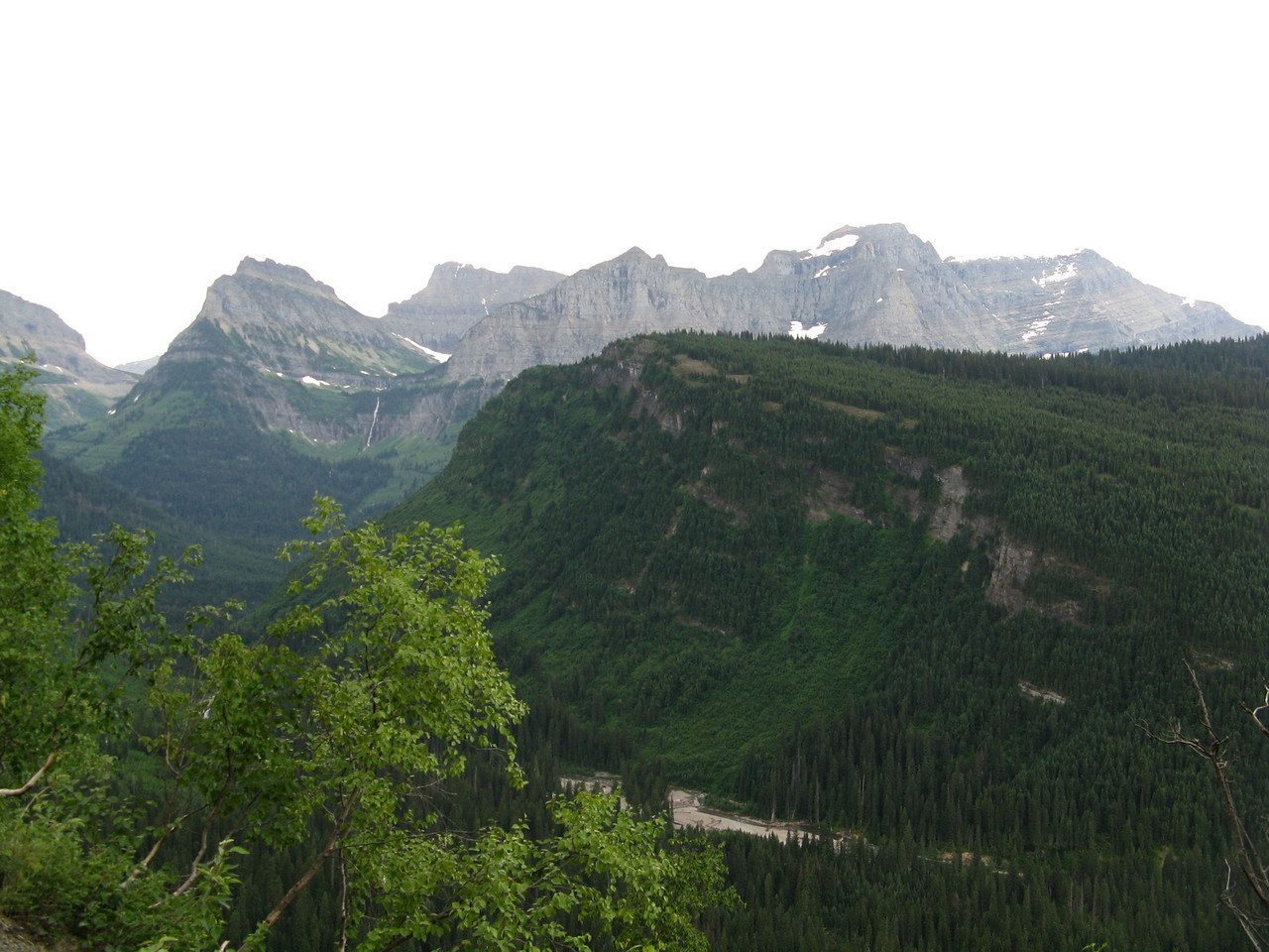 Looking a little more south from the prior image, Logan Pass is now on the left side of the picture.