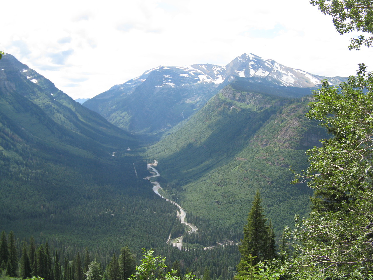 Another view of the valley below us.  The road can be seen as the thin line on the left side of the creek at the bottom of the valley.