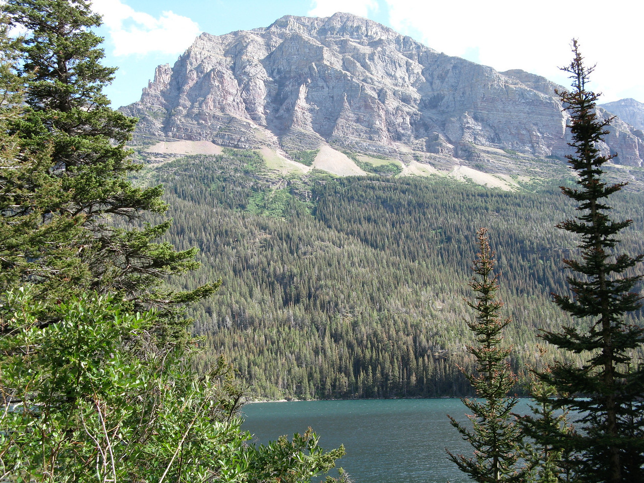 One of the mountains on the southside of Saint Mary Lake.