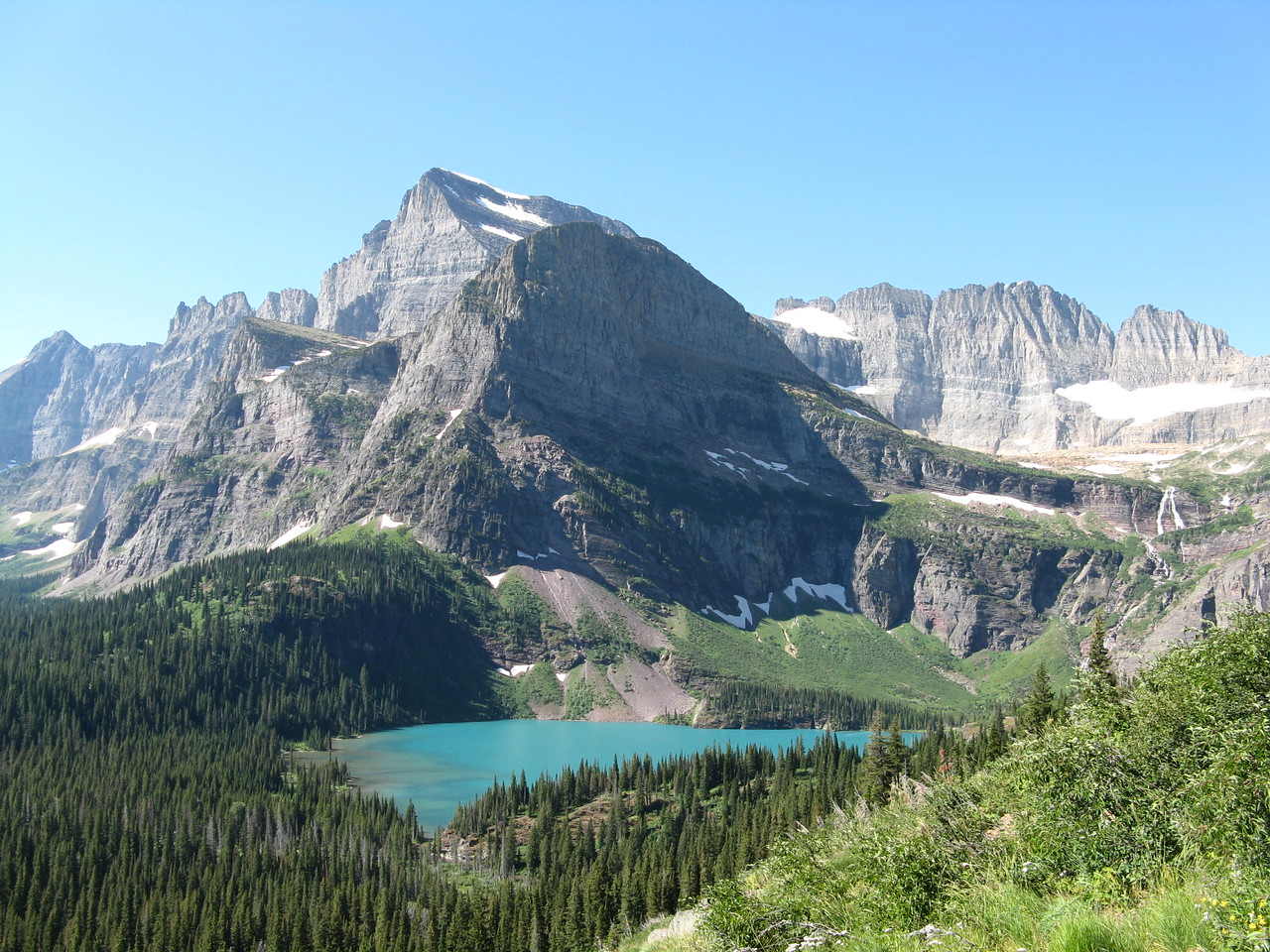 Mount Gould above Grinnell Lake.
