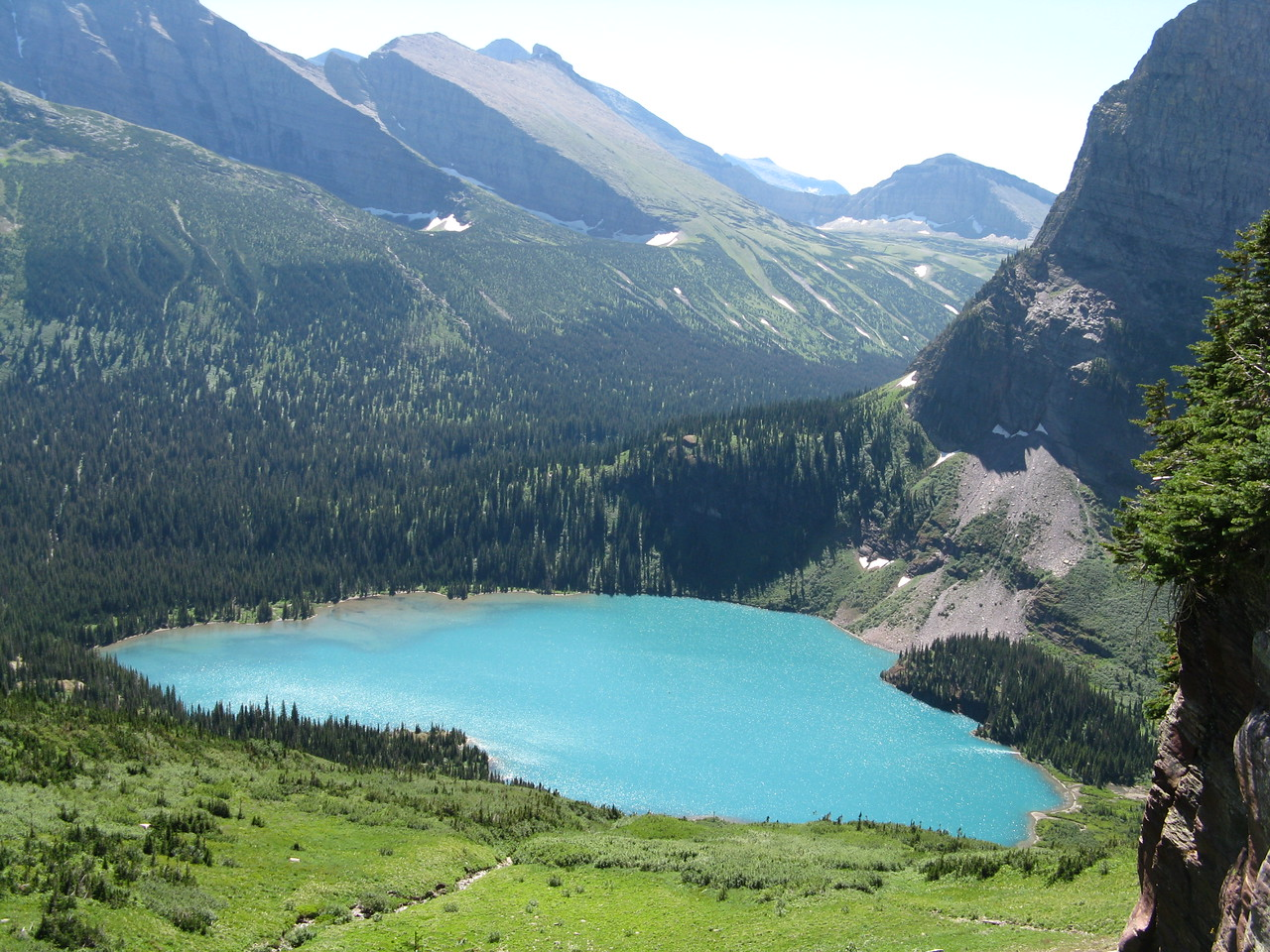 Looking back at Grinnell Lake.