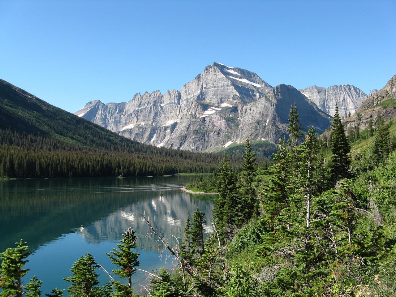 Mount Gould above Lake Josephine.