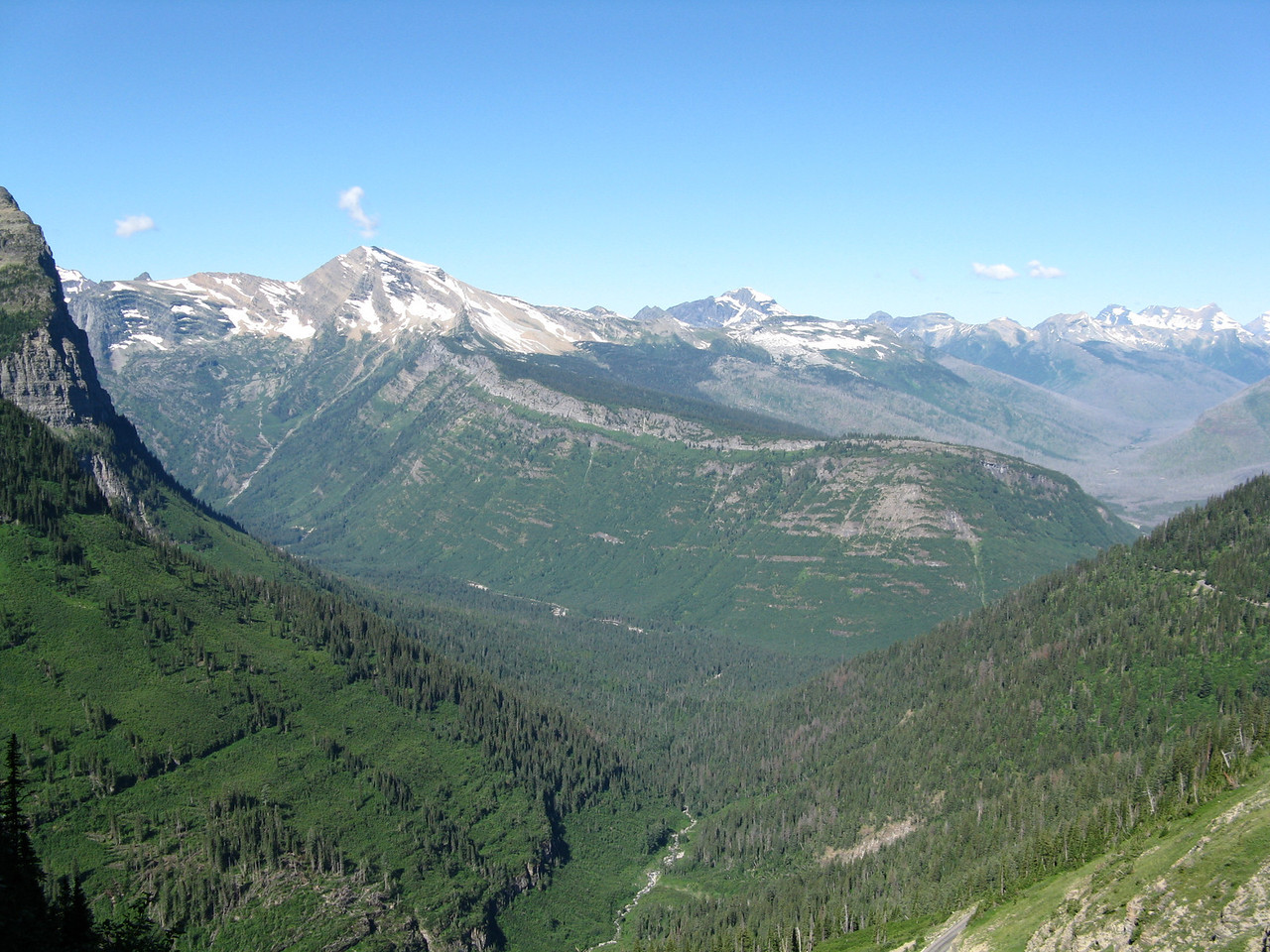 Heavens Peak across the valley.