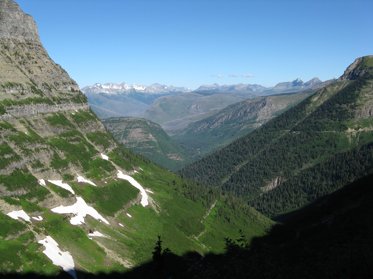 Looking down the valley to the northwest.