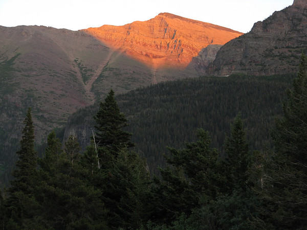 Sunset on the Mountains, Aug 5, 2008