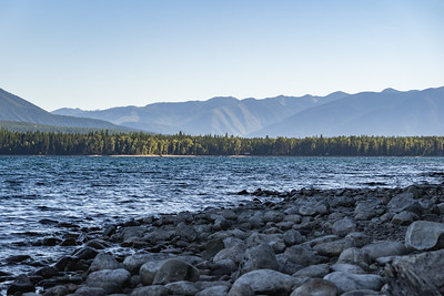 View Across Lake McDonald towards the Entrance to Glacier National Park