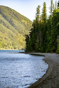 Rocky Treed Shoreline of Lake McDonald