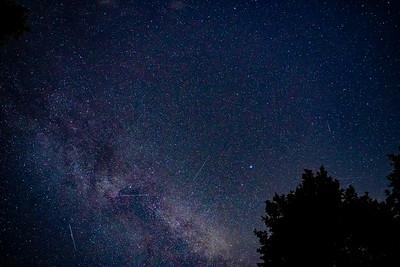 Milky Way in the Night Sky over Glacier National Park in Montana