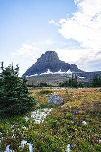 Clements Mountain from Hidden Lake Trail in Glacier National Park