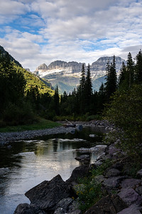 Mt Gould and the Garden Wall from the Haystack Creek Valley in Glacier National Park