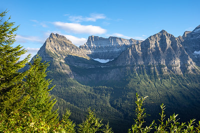 Mountain Peaks by Logan's Pass in Glacier National Park