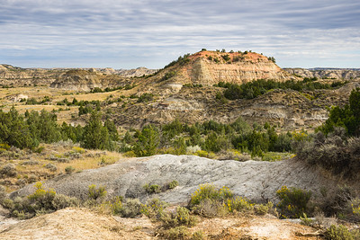 View over the Rocks and Grass of the Painted Canyon in Theodore Roosevelt National Park