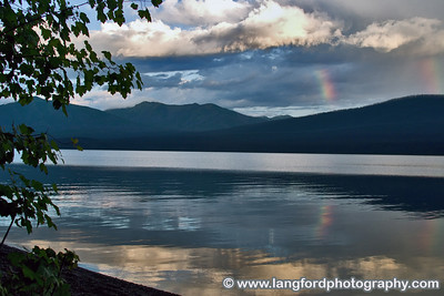 This small double rainbow was shot from a small beech at one of the many parking areas along Lake McDonald.