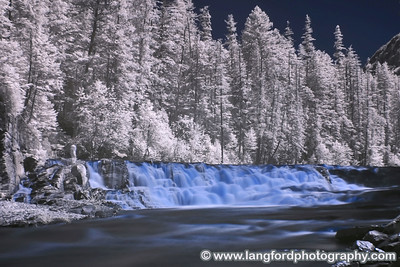 Infrared picture of McDonald Creek.  This was taken at one of the many pulloffs along the Going to the Sun Road.