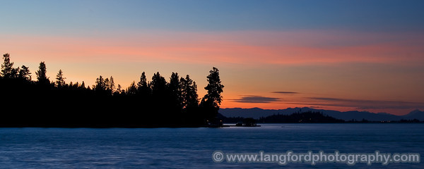 The sunsets at Flathead Lake can be amazing!