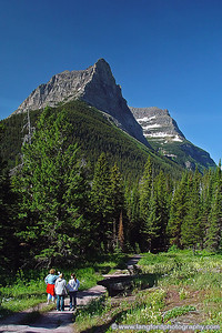 One of the many open views along the trails of the West side of St Mary Lake.