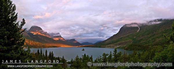 This view of St Mary Lake is one of the most famous and frequently photographed.  If you stop by in the morning, you might be treated to a beautiful sunrise.