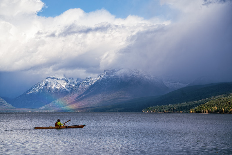 Kayaking on Lake McDonald